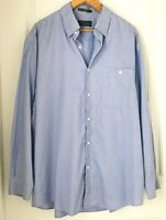Orvis Signature Collection Men XL100% Cotton Long Sleeve Button Down Plaid Shirt