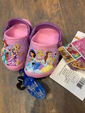 NEW Crocs Sandals Disney Girls Princess Pink Light Up Slip On Shoes Child 4 Baby