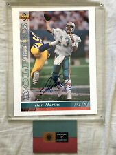 Dan Marino autographed signed autograph Dolphins 1993 Upper Deck photo card UDA