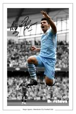 SERGIO KUN AGUERO MAN MANCHESTER CITY SIGNED PHOTO AUTOGRAPH PRINT
