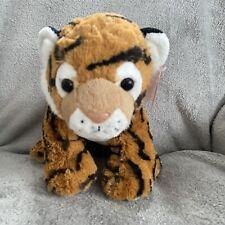 "Fiesta 13"" Tiger Orange and Black Safari Plush Stuffed Animal Toy"