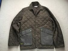 Mens Duffer Of St George Quilted Jacket Green Size M