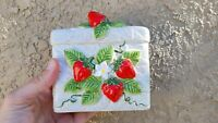 Vintage Strawberry napkin holder Sears, Roebuck 1981 Made In Japan
