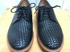 CLARKS BAMPTON WEAVE Black Leather Textured Lace Up Mens Shoes @ UK 8.5 Smart