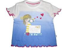 NEU Liegelind tolles T-Shirt Gr. 80 weiß-blau mit Mädchen Motiv !!