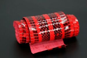 Elaphe Carinata Snake Skin Leather Snakeskin Craft Supply Unbleached Red