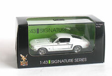 1:43 SIGNATURE SERIES 43206 - 1968 FORD MUSTANG GT - White - New Boxed