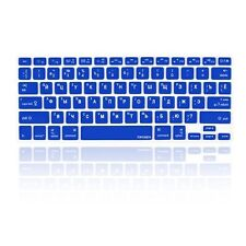 """Russian /English ROYAL BLUE Silicone Keyboard Cover for Macbook Pro 13"""" 15"""" 17"""""""