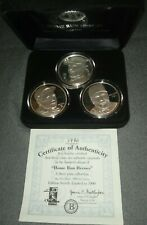 Home Run Heroes Babe Ruth Roger Maris&Mark McGwire .999 Silver Each Coin 1troyoz