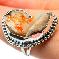 Huge Citrine Crystal 925 Sterling Silver Ring Size 9 Ana Co Jewelry R29454F