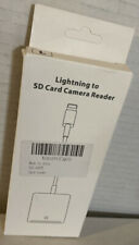 Lighting to SD  Card Camera Reader  for iPhone 11/XR/XS/8/7/Plus
