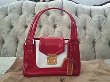 NWT 100% AUTHENTIC LOUIS VUITTON RED PATENT LEATHER BICOLORE PURSE