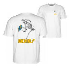 Bones Skateboard Skeleton Skate Powell Peralta T-Shirt White Skull OG M L XL XXL