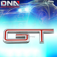 FOR FORD MUSTANG GT STICK ON 3D CHROME RED AUTO METAL EMBLEM TRIM BADGE LOGO