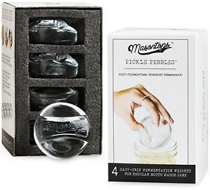 Masontops Pickle Pebble Glass Infinity Weights for Fermenting - Small/Regular