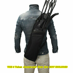 Archery Bag Hunting Back Arrow Quiver Tube with Back Strap Archery Case Holder