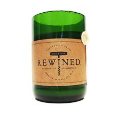 Recycled Wine Bottle Rewined Candle - Mimosa -Soy Wax 60-80hrs Burn Time
