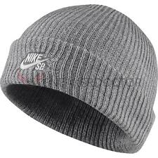 Nike Mens SB Nike Fisherman Skull Cap Beanie Grey Heather/White