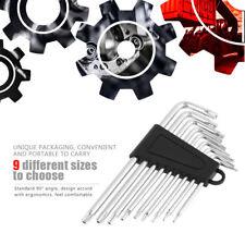 9er Torx-Sterne Winkelschlüssel 90° L Wrench Set T6-T27 Handwerkzeuge Universal