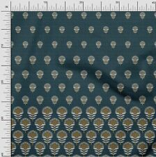 oneOone Cotton Jersey Dark Navy Blue Fabric Leaves & Flower Panel-OUi