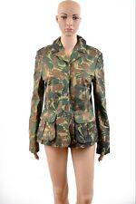 Braddock Single Breasted Blazer Jacket Military Leather Camouflage Camo M BNWT