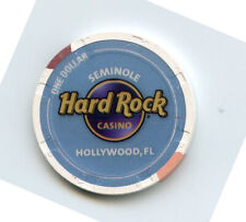 1.00 Casino Chip from the Hard Rock Casino Hollywood Florida