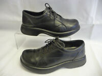 DANSKO Women's Platform Oxfords Size 40 US 9.5-10 Black Leather Laces Portugal