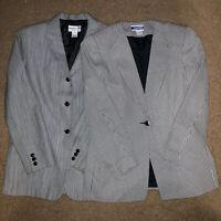 Lot of 2 Vintage Women's Pendleton Button Gray 100% Virgin Wool Blazers Size 10