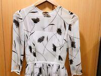 LOVER THE LABEL Dandelion Mini Dress Silk Black & White Sz 6 *NWT* RRP $695.00!