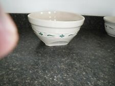 Longaberger Woven Traditions Heritage Green Large Tip And Mix Bowl Euc