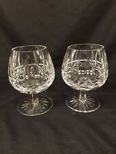 Waterford crystal Kylemore brandy snifter pair mint preowned
