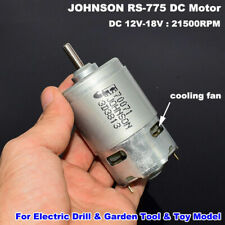 Johnson Rs 775 Dc 12v 18v 19000rpm High Speed Power Electric Motor Large Torque