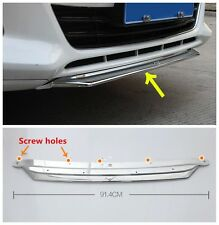 Chrome Front Bumper Lip Cover Trim With Mustang Logo For FORD FUSION 2013 2014