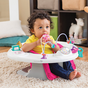 NEW Baby Super Seat Pink 4-In-1Infant Chair For Sitting 360 Play Activity Table