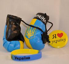 Ukrainian National Country Flag Colors Ukraine Souvenir 3pcs Set Pin Gloves Band