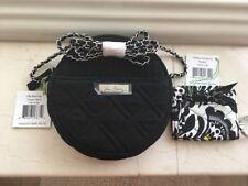 VERA BRADLEY BLACK PILL BOX CROSSBODY HANDBAG & SMALL MATCHING ID WALLET NEW