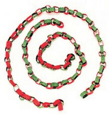 Red & Green Paper Chain, Doll House Miniatures Party Decor 1.12 Scale