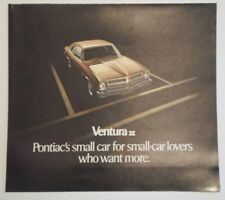 PONTIAC VENTURA II original 1971 USA Mkt Sales Brochure