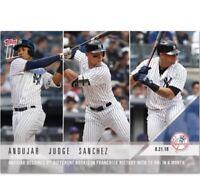 2018 Topps NOW MLB 668 Miguel Andujar Aaron Judge Gary Sanchez