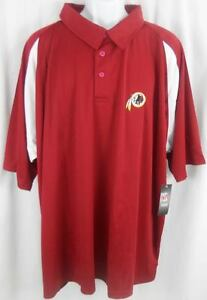 Washington Redskins NFL Team Apparel Dri Fit Polo Golf Shirt Big & Tall Sizes