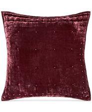 Martha Stewart EURO Pillow Sham Tufted Velvet RED J06031