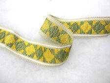 Giallo e verde treccia bordo tessuto tenda materiale bordura cucire rifinitura