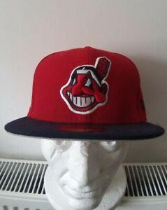 Cleveland Indians Rare Logo Baseball Cap 59Fifty New Era Genuine