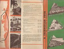 Vintage Brazil Tour Brochure Rio de Janeiro Sao Paulo Santos Circa 1940's