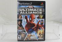 Marvel Ultimate Alliance PS2 Game Complete Tested Nice shape Black Label