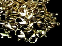 100 x 12mm Gold Plated Lobster Clasps Beads Findings Clasp Craft  i109