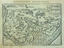Bertius Original Kupferstich Landkarte Dithmarschen Elbe Eider Schleswig 1602/06