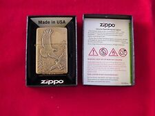 Zippo Where Eagles Dare Brass Colored Embossed Lighter Great New