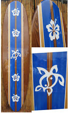 Decorative Tropical Wooden Surfboard Wall Art for a Coastal Beach Home Decor