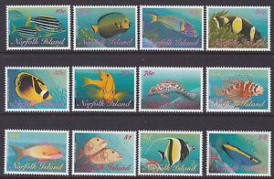 1998 Norfolk Island Reef Fish - Complete Set of 12 MUH Stamps